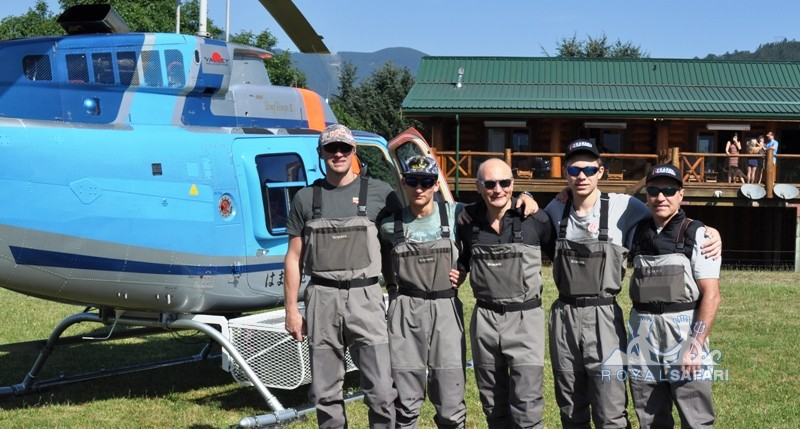Вертолетная рыбалка Канада