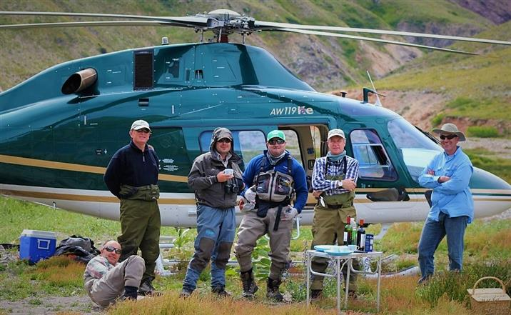 вертолетная рыбалка в Чили